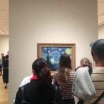 Looking at people looking at art